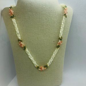 Jewelry - Beautiful Pre-Loved Shell, Jade and Coral